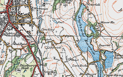 Old map of Limbrick in 1924