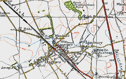 Old map of Limbury in 1920