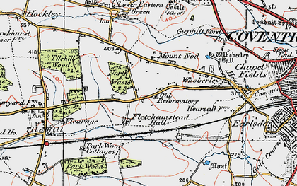 Old map of Lime Tree Park in 1920