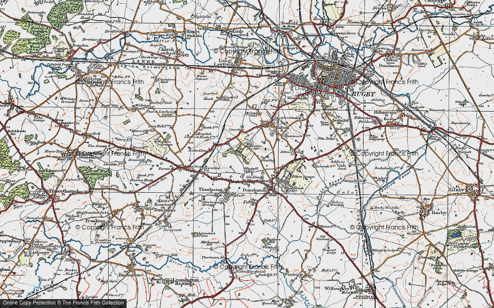 Old Map of Lime Tree Village, 1919 in 1919