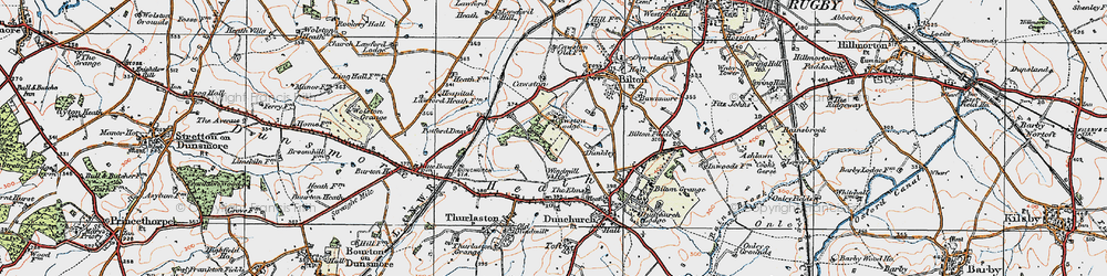 Old map of Lime Tree Village in 1919
