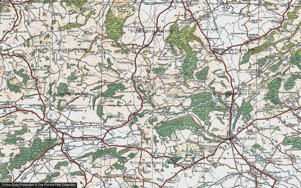 Old Map of Limebrook, 1920 in 1920