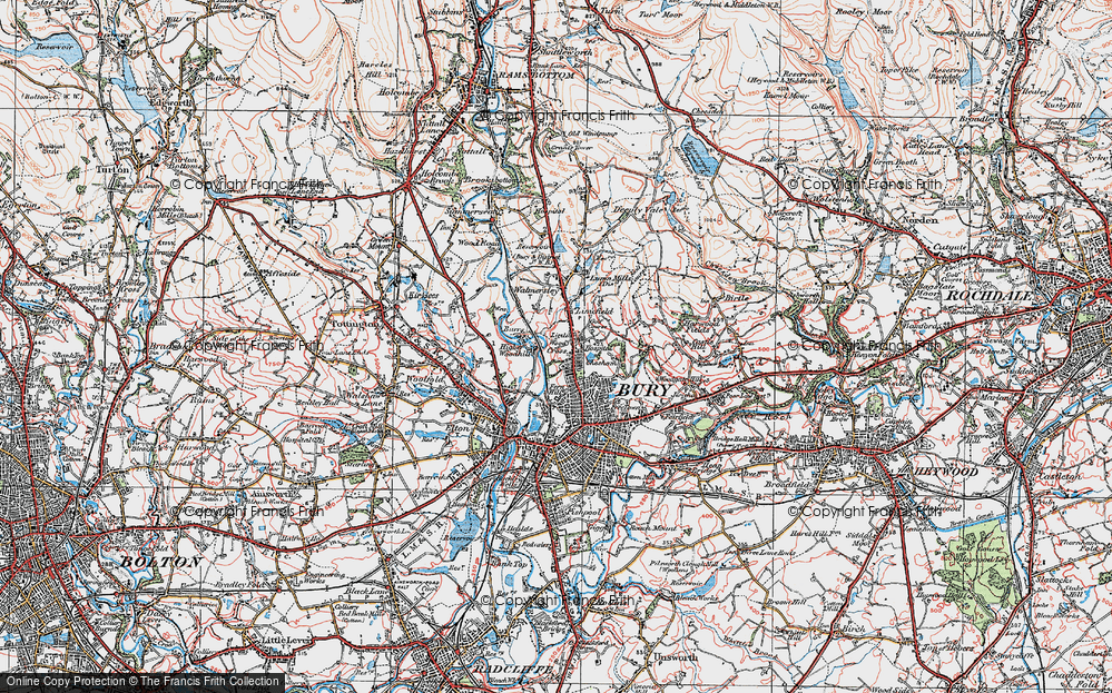 Old Map of Limefield, 1924 in 1924