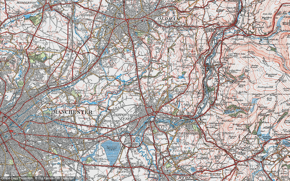 Old Map of Limehurst, 1924 in 1924
