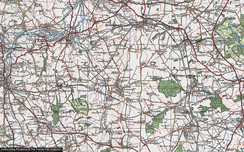 Old Map of Limekiln Field, 1923 in 1923
