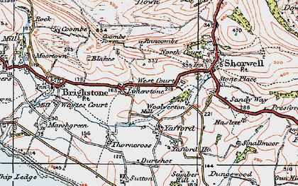 Old map of Limerstone in 1919