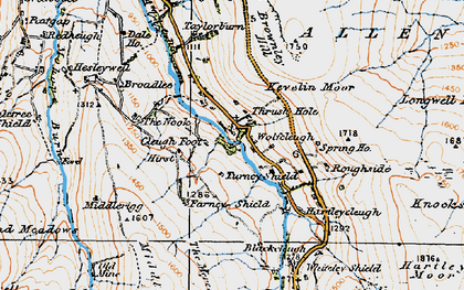 Old map of Wolfcleugh in 1925