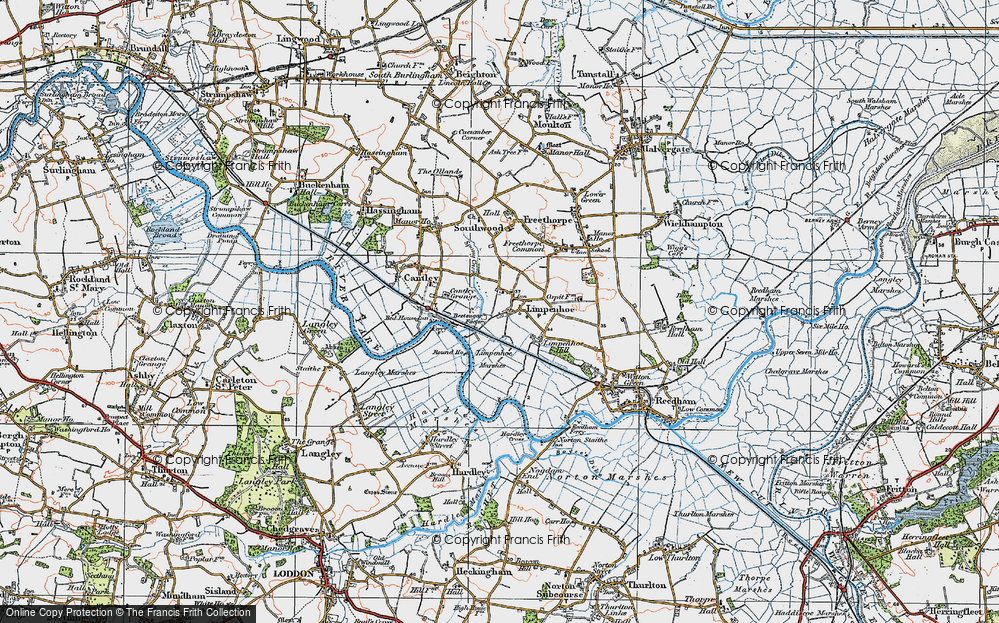 Old Map of Limpenhoe, 1922 in 1922