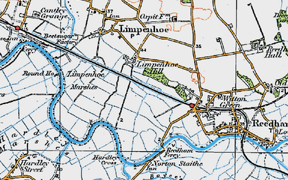 Old map of Limpenhoe Hill in 1922
