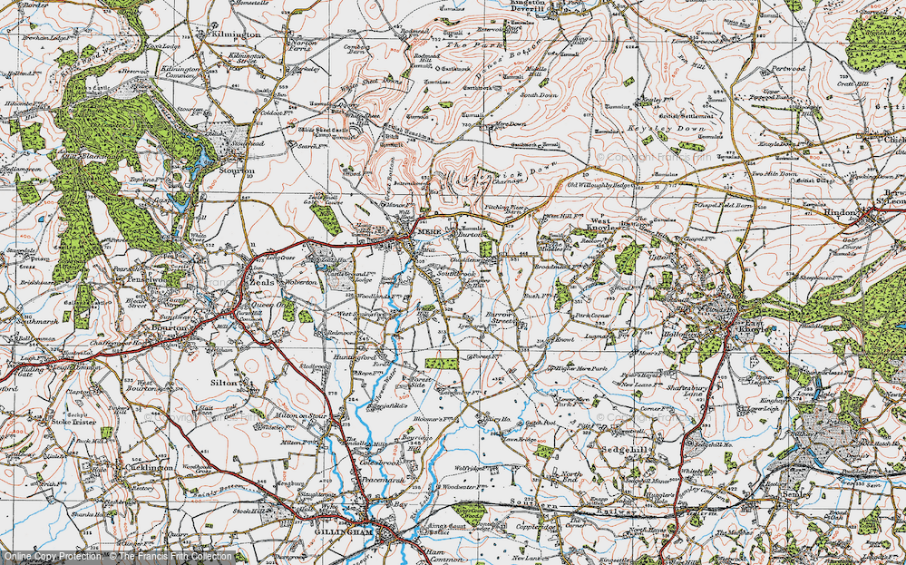 Old Map of Limpers Hill, 1919 in 1919