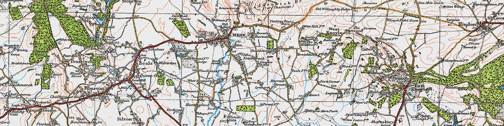 Old map of Limpers Hill in 1919
