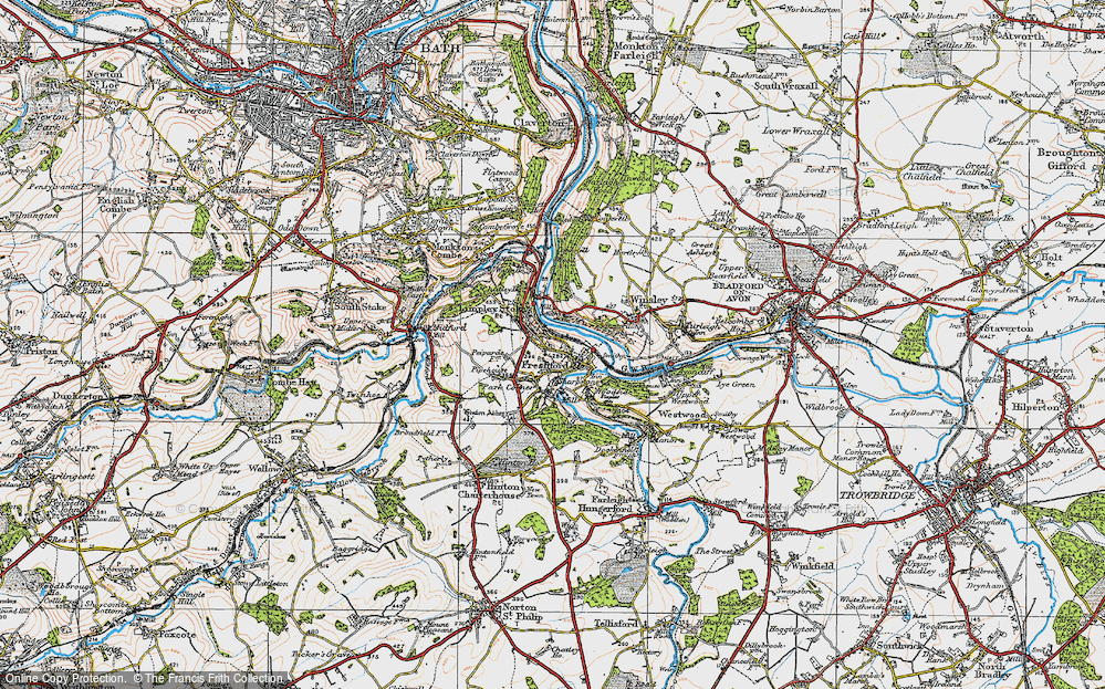 Old Map of Limpley Stoke, 1919 in 1919