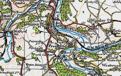 Old map of Limpley Stoke in 1919