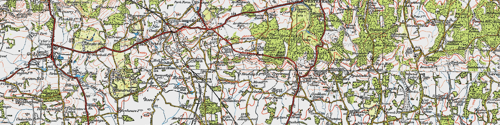 Old map of Limpsfield Chart in 1920