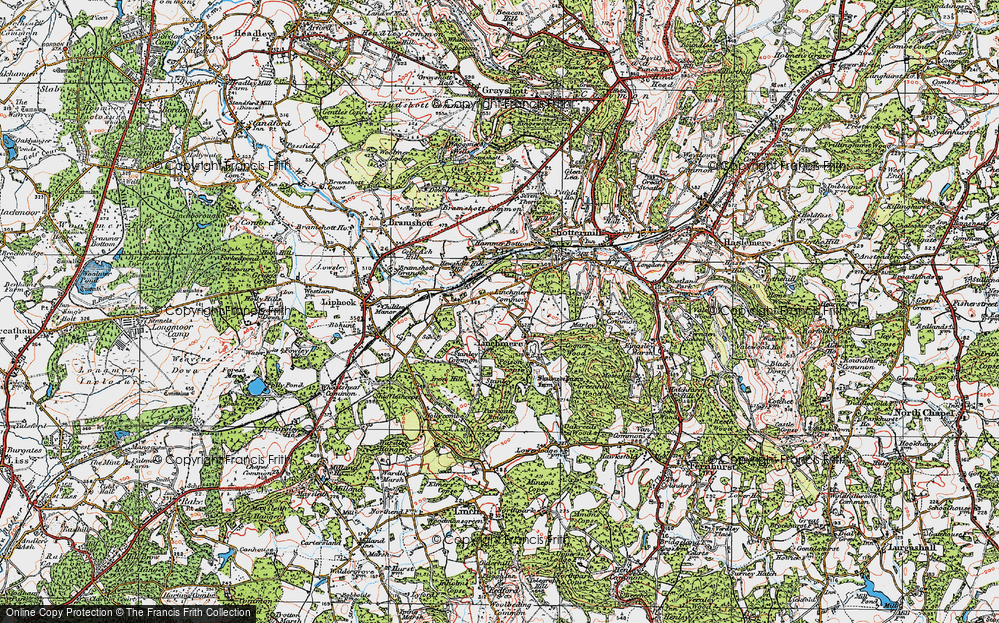 Old Map of Historic Map covering Linchmere Common in 1919