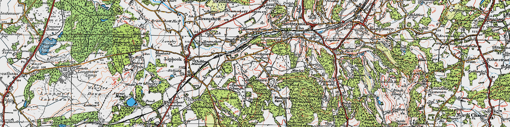 Old map of Linchmere in 1919