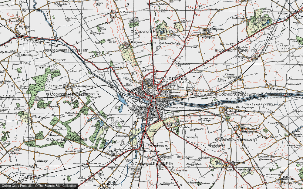 Old Map of Lincoln, 1923 in 1923