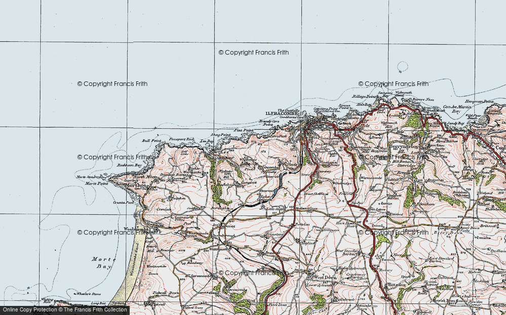 Old Map of Lincombe, 1919 in 1919