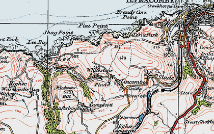 Old map of Lincombe in 1919