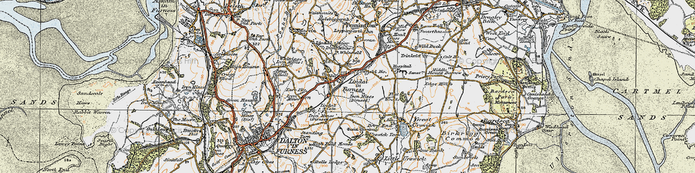 Old map of Whinfield in 1925