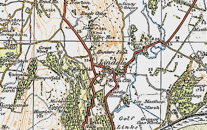 Old map of Lindale in 1925
