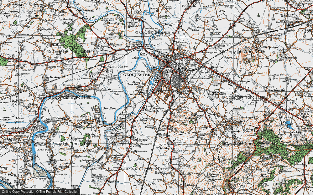 Old Map of Linden, 1919 in 1919