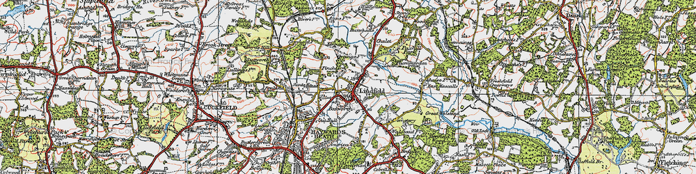 Old map of Lindfield in 1920
