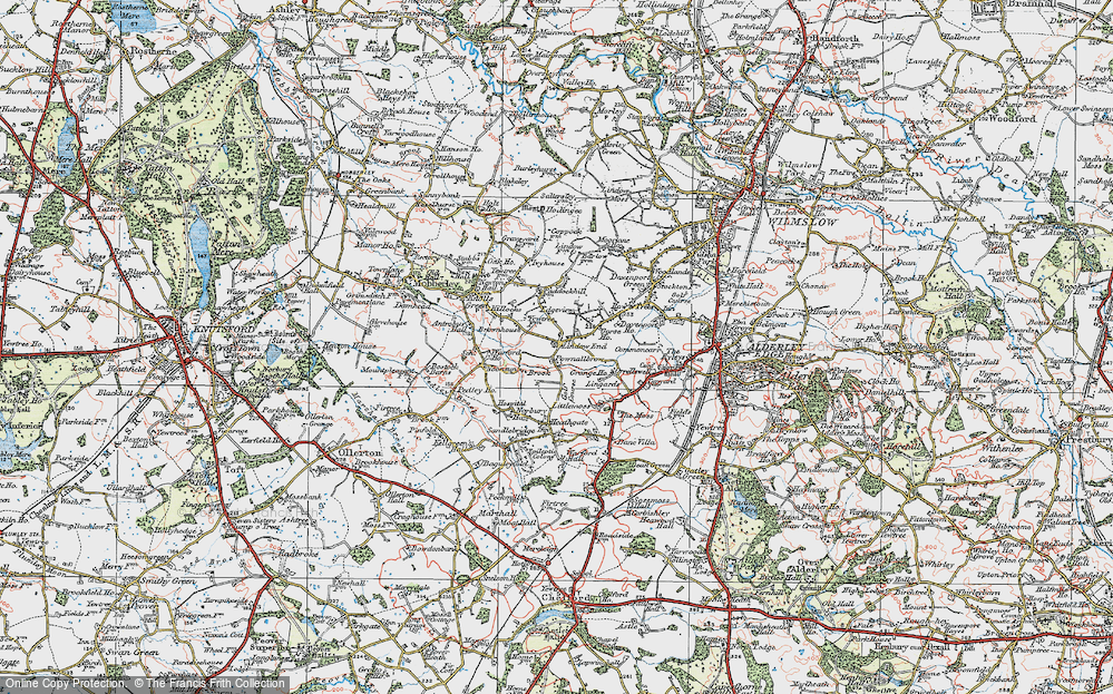Old Map of Lindow End, 1923 in 1923
