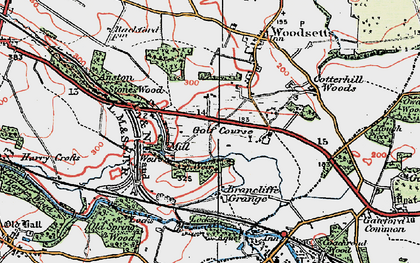 Old map of Lindrick Dale in 1923