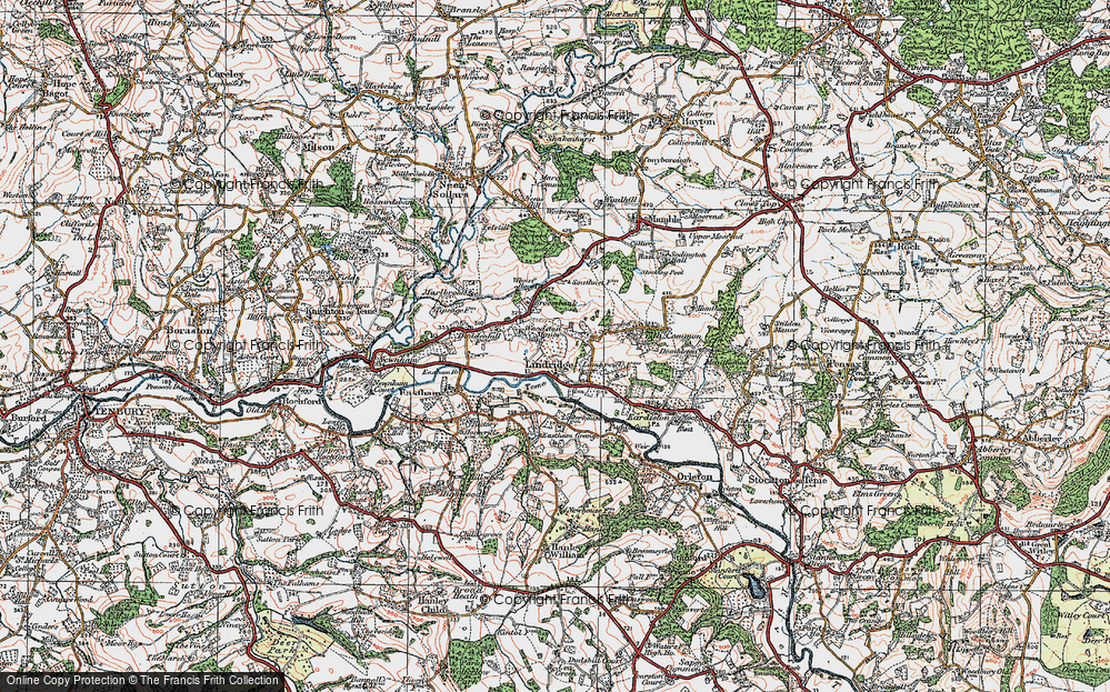 Old Map of Lindridge, 1920 in 1920