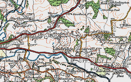 Old map of Lindridge in 1920