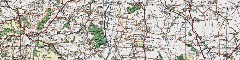 Old map of Wyneyards in 1920