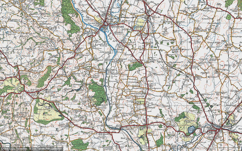 Old Map of Lineholt Common, 1920 in 1920