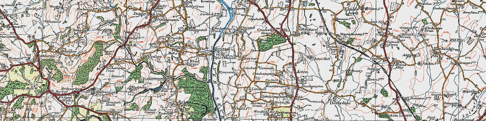 Old map of Lineholt Common in 1920