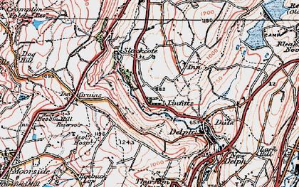 Old map of Linfitts in 1924