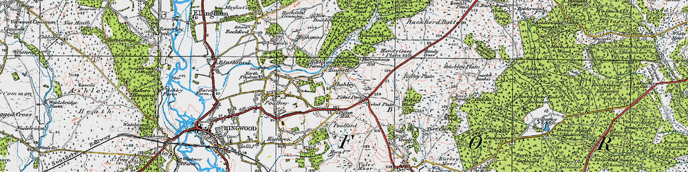 Old map of Linford in 1919