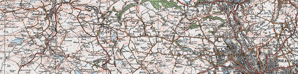 Old map of Lingbob in 1925
