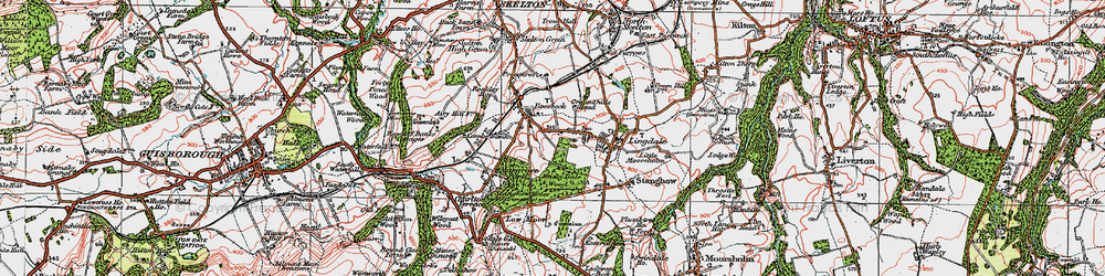 Old map of Lingdale in 1925