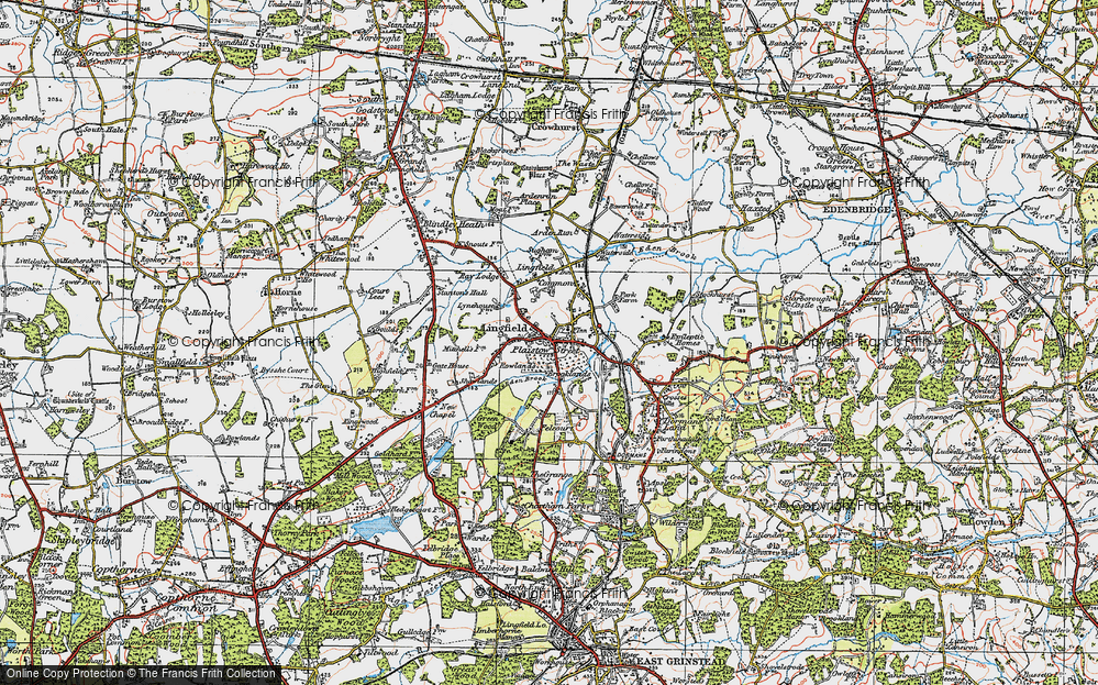 Old Map of Lingfield, 1920 in 1920