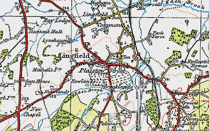 Old map of Lingfield in 1920