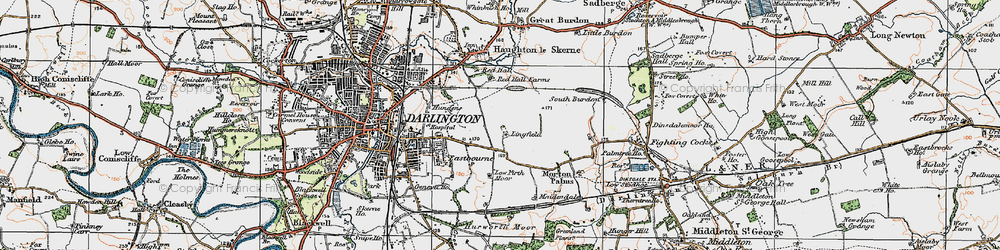 Old map of Lingfield in 1925
