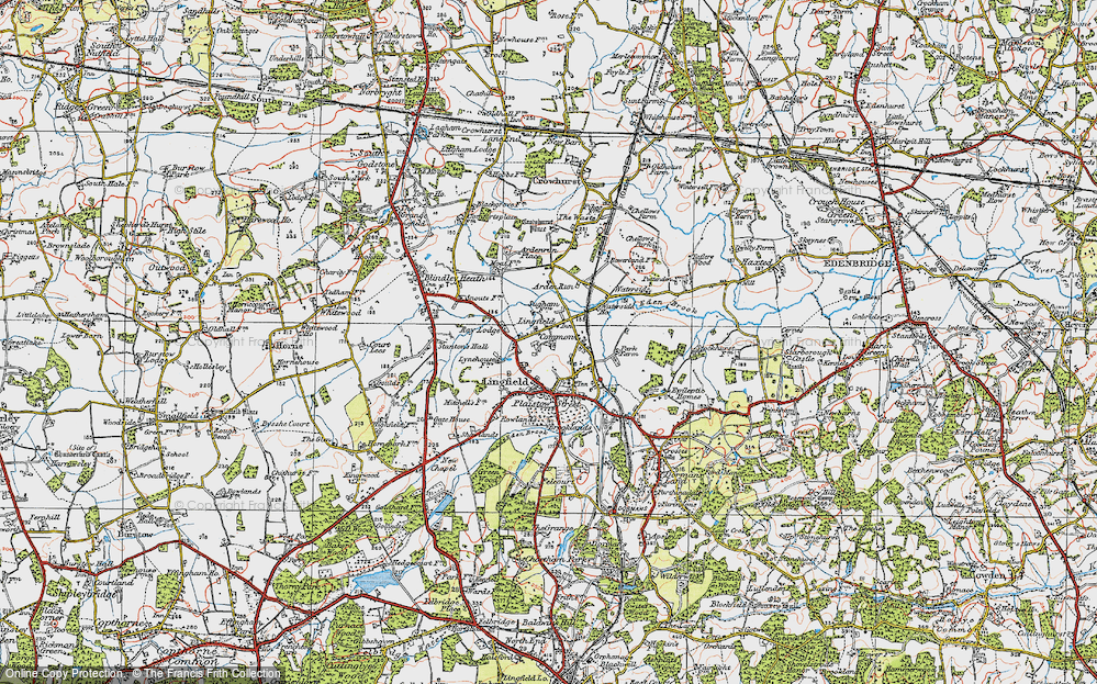 Old Map of Lingfield Common, 1920 in 1920
