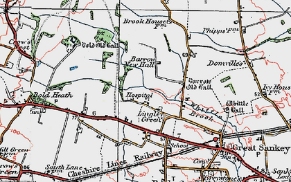 Old map of Lingley Green in 1923