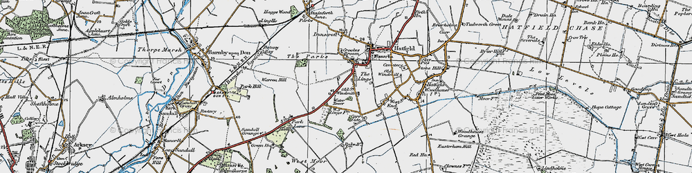 Old map of Lings, The in 1923