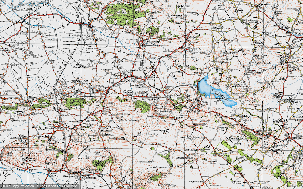 Old Map of Link, 1919 in 1919