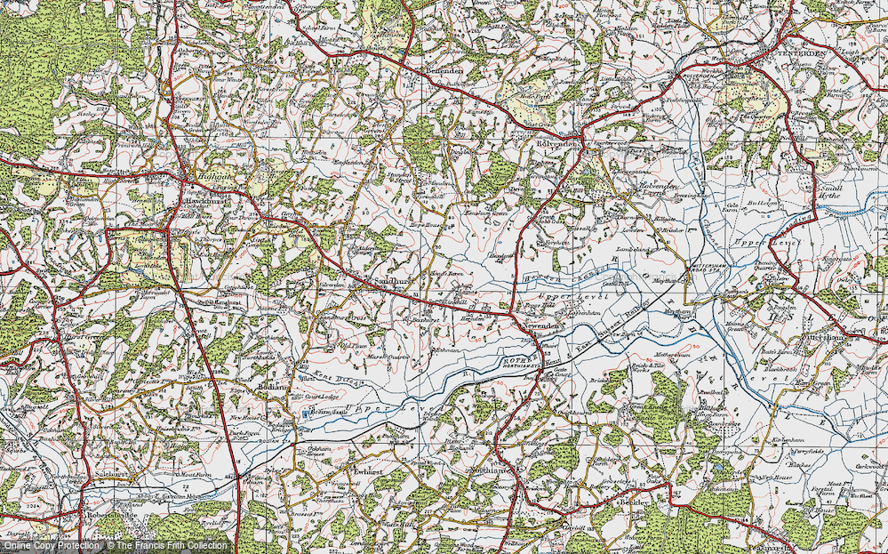 Old Map of Linkhill, 1921 in 1921