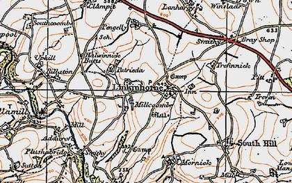 Old map of Linkinhorne in 1919