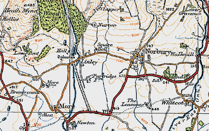 Old map of Linley in 1920