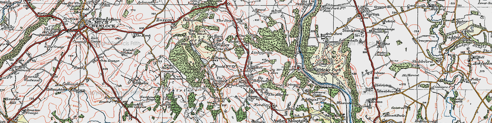 Old map of Linley in 1921