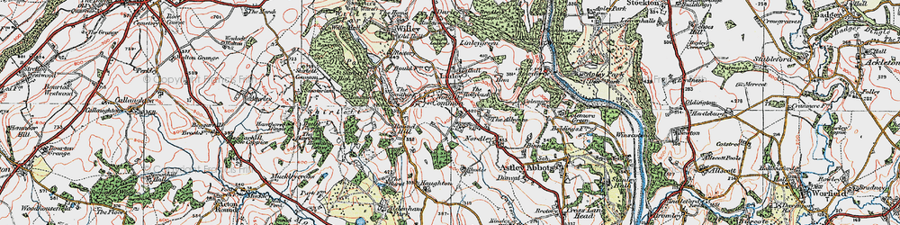 Old map of Linley Brook in 1921